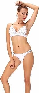 White Flower Bikini Set Mesh Strappy Biquini Micro Bathing Suit Swimsuit Thong Swimwear Women Brazilian Bikini