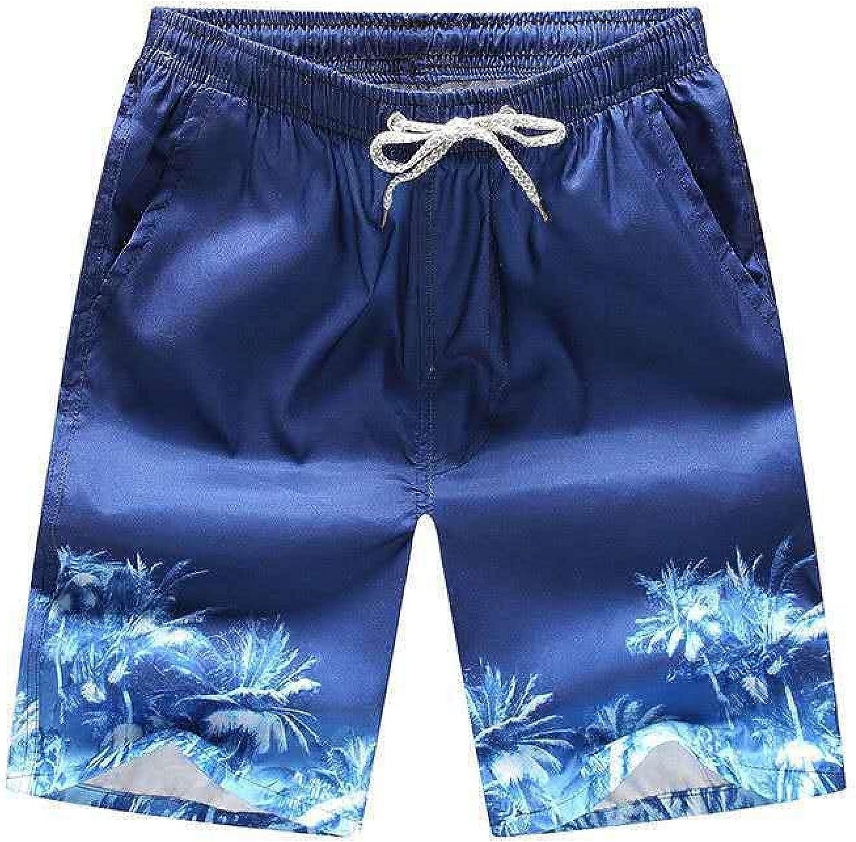 Segindy Men's Summer Beach Shorts Fashion Personality Printing Loose Casual Comfortable