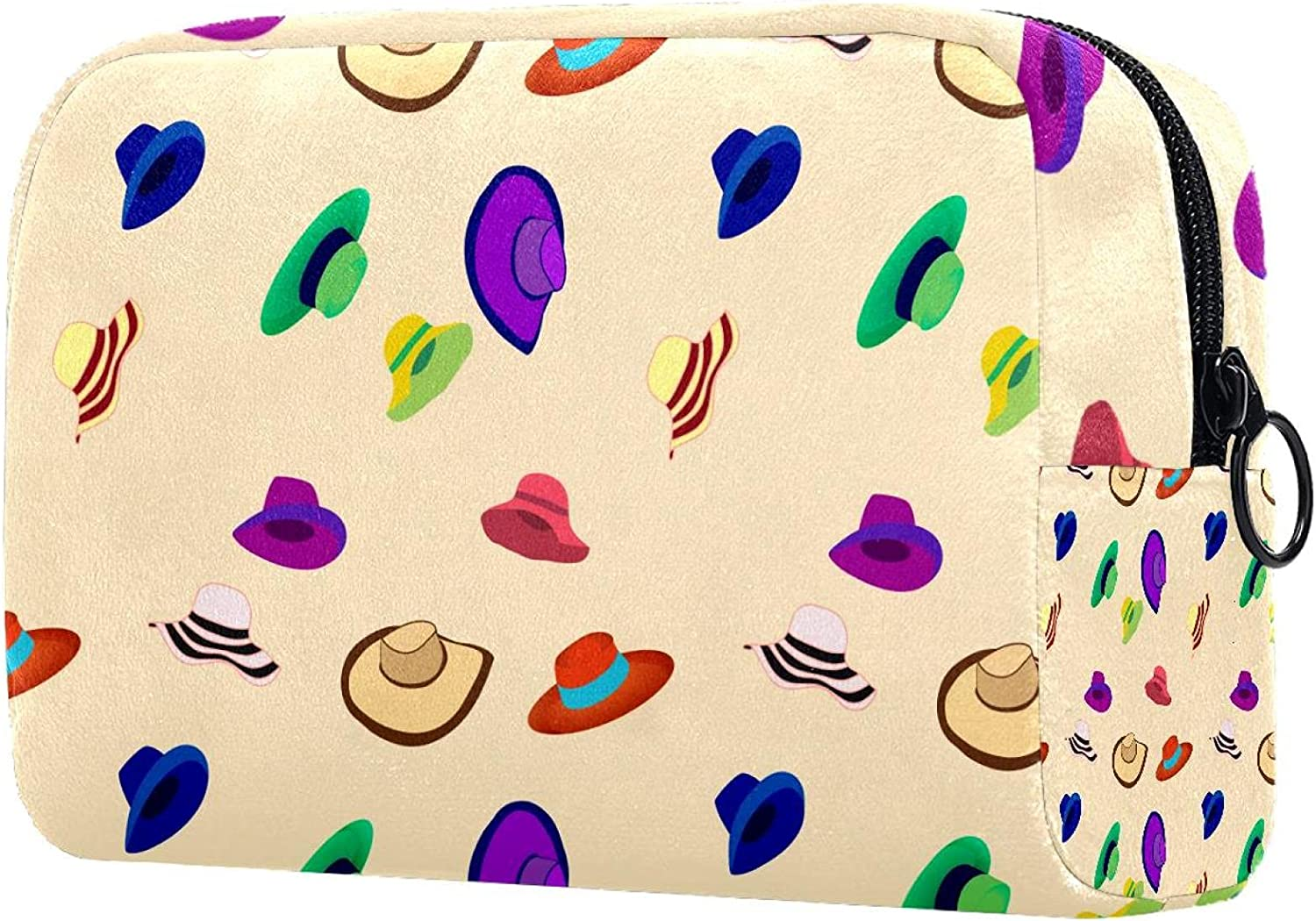 Max 85% OFF Woman Hats Pattern Travel Makeup Cosmetic Bag Large C specialty shop