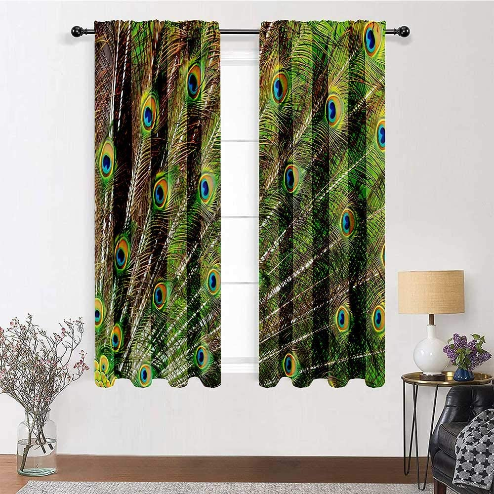 Blackout Curtains Bombing new work 96 inch Price reduction Length Peacock 72