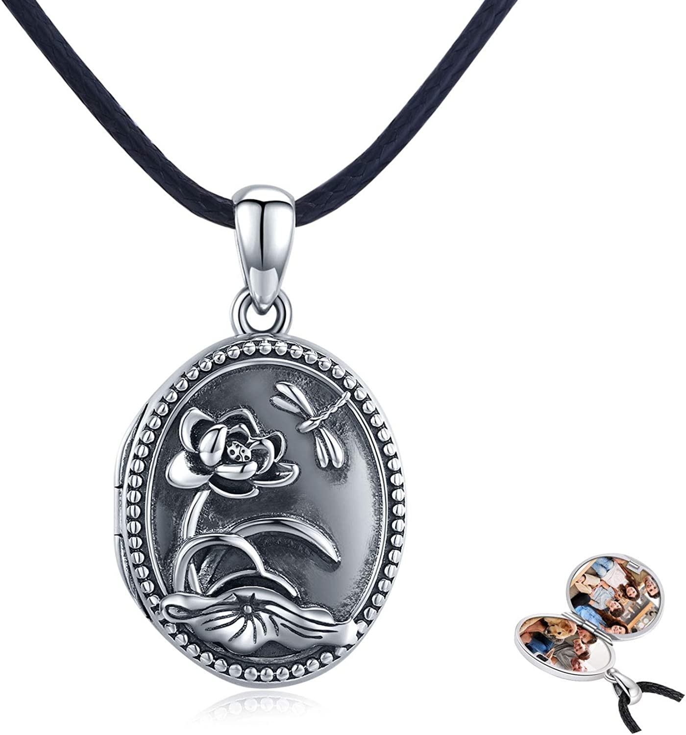 Oval Sterling Silver Ranking specialty shop TOP18 Locket for That Pictures vintag Holds Women