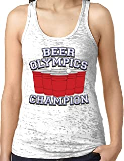 Ladies Beer Olympics Champ Burnout Racerback Tank Top