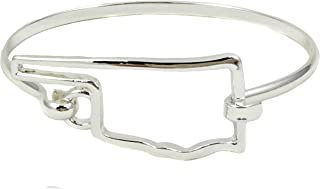 State Shape Bangle Bracelet