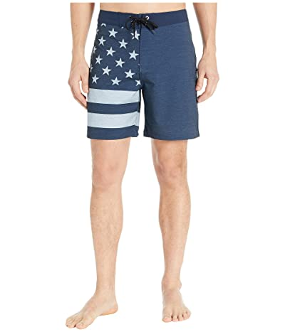 Hurley 18 Phantom Patriot Boardshorts (Obsidian) Men