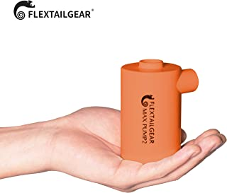 FLEXTAILGEAR携帯式エアーポンプ 3600mAh電池USB充電式の最軽量ポンプ タッチパネルスイッチで急速な空気を入れること空気を抜くことができる エアーベッド、プール玩具、浮き輪、真空袋など(4つ種類のノズル付き)