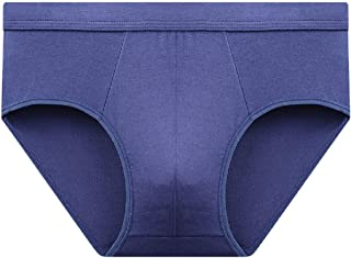 Howely Men's Breathable Solid Color Soft Stretch Mid Waist Cozy Briefs