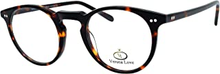 High End Acetate Eyewear Frame Turtle Fashion Eyeglasses Optical Frame For Men and Women (Utah Demi Amber)