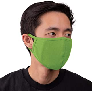Aulin� Collection Made in USA Cotton Fabric Washable Reusable Filter Pocket Face Mask, Lt Olive 1 PK