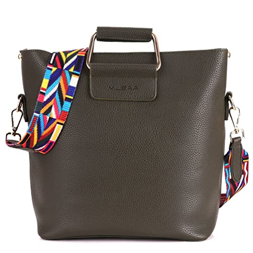 f2684ee53d MUSAA Leather Totes Shoulder Bag Cross-body Handbags With Bohemian style  shoulder strap