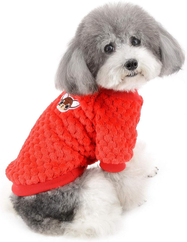 Poseca Su/éter de Invierno para Perros peque/ños Ropa para Perros su/éter para Cachorros su/éter para ni/ñas y Perros su/éter para Perros y Gatos Abrigos de Punto