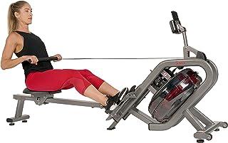 Sunny Health & Fitness Unisex Adult SF-RW5910 Phantom Hydro Water Rowing Machine - Black, One Size