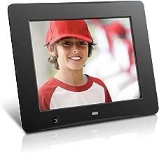 Aluratek ADMSF108F 8-Inch Digital Photo Frame with Energy Efficient Motion Sensor 4GB Built in Memory (Black)