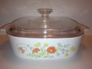 Vintage Corning Ware Wildflower 2 Quart Casserole Dish with Lid A-2-B