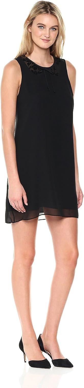 BCBGeneration Womens Lace Collar Dress Dress