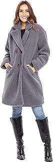 Alexander Del Rossa Women's Luxury Sherpa Fleece Coat, Winter Jacket