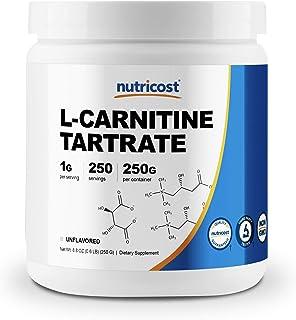 Nutricost L-Carnitine Tartrate Powder (250 Grams) - 1 Gram per Serving, 250 Servings