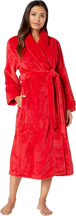 Long Cable Plush Robe