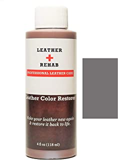 Leather Rehab Leather Color Restorer - Repair & Restore Faded, Worn and Scratched Leather & Vinyl Easily with No Kit - Furniture, Couch, Car Seat, Shoes, Jacket and Boots - 4 oz. Gunmetal Gray