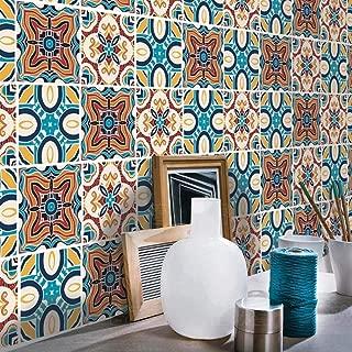 H2MTOOL 8x8 Tile Stickers, 12PCS Removable Peel & Stick Floor Stair Decals for Kitchen Bathroom Backsplash (12, 8