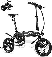 VIVI Bicicleta Electrica Plegable 350W Bicicleta Eléctrica Montaña, Bicicleta Adulto Bicicleta Electrica Plegable con Rueda Integrada de 14