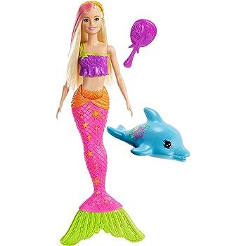poupée sirène barbie dreamtopia cheveux corail