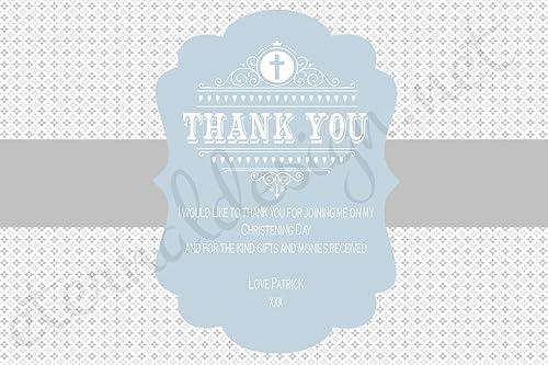 Eternal Design Dankeskarten zur Taufe, personalisierbar 100 per pack with envelopes