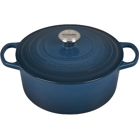 Le Creuset Enameled Cast Iron Signature Round Dutch Oven, 5.5 qt., Deep Teal