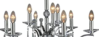 Decorative Crystal Chandelier Chrome Asfour Crystal