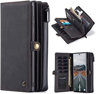 JAMIE Case for Samsung Galaxy Note 20 Ultra 5G 6.9 inch,Wallet Multi-Functional Leather Purse Flip Cover Zipper Wallet Cas...
