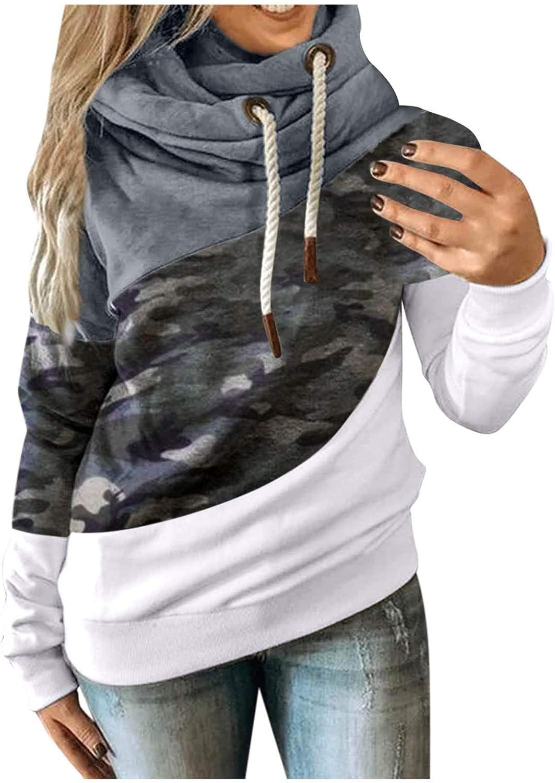 Large-scale sale Hotkey Reservation Hoodies for Women Cowl Neck Long Sweatshirt Sleeve Hooded