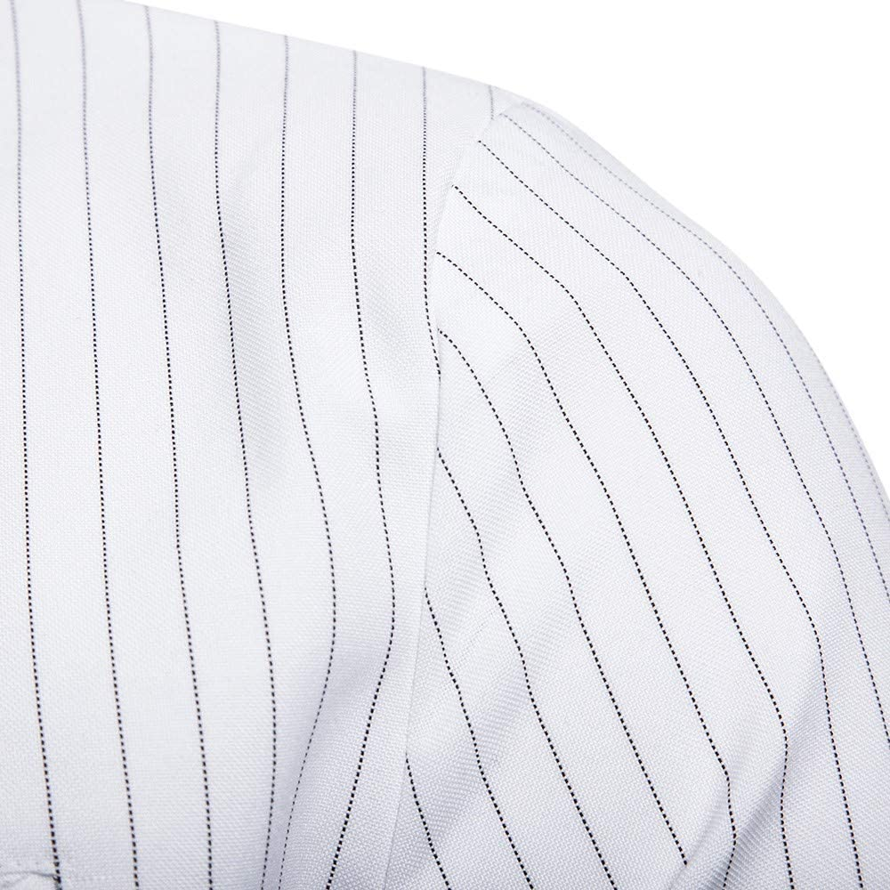 MODOQO Men's Slim Fit Stripe Sport Blazer Jacket Casual One Button Tuxedo