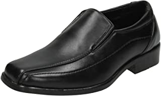 Various Sizes Available N1077 Boys JCDees Black Formal Slip On School  Shoes