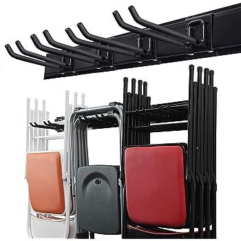 Wallmaster Garage Storage Tool Organizer System Heavy Duty Tools Wall Mount Rack Hanger with 6 Hooks 48inch Tracks Max Load 265lb