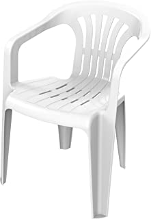 Cosmoplast Plastic Duchess Armchair for Indoors and Outdoors, White, 75 x 57 x 56 cm