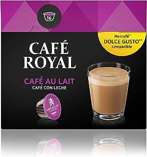 Café Royal Café au Lait 16 capsules compatibles avec le système Nescafé (R)* Dolce Gusto (R)*- Aromatique et Crémeux