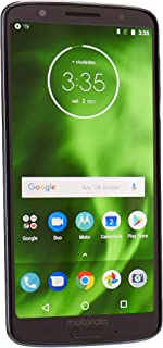 "Motorola Moto G6 (32GB, 3GB RAM) Dual SIM 5.7"" 4G LTE (GSM Only) Factory Unlocked Smartphone International Model XT1925-2 (Deep Indigo)"