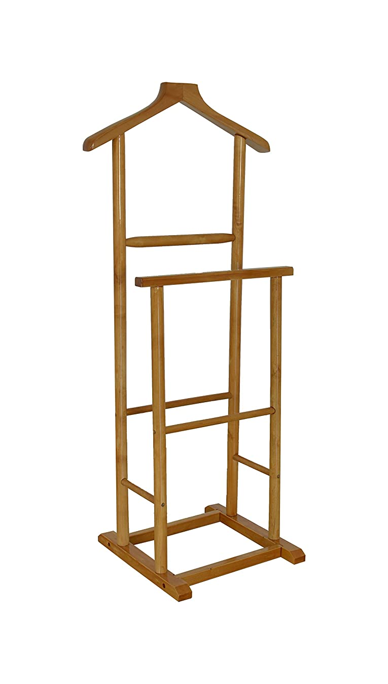 The Urban Port The C209-123115 Antique Double Men Valet Stand with Suit Hanger