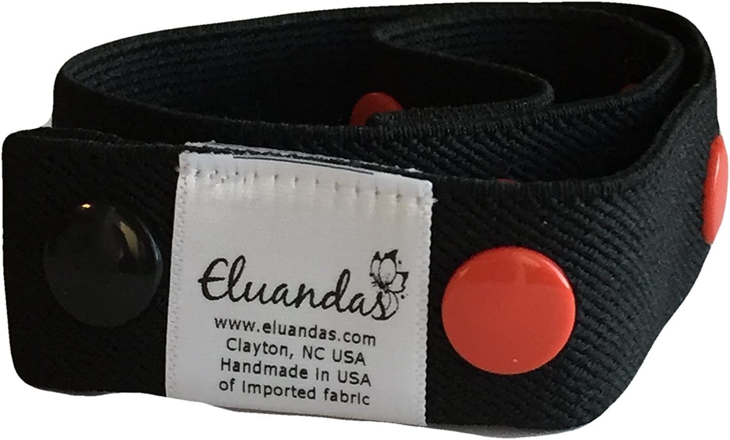 Elu Clips - Elastic Snap Belt for Kids and Adults - Solid Colors - no front closure