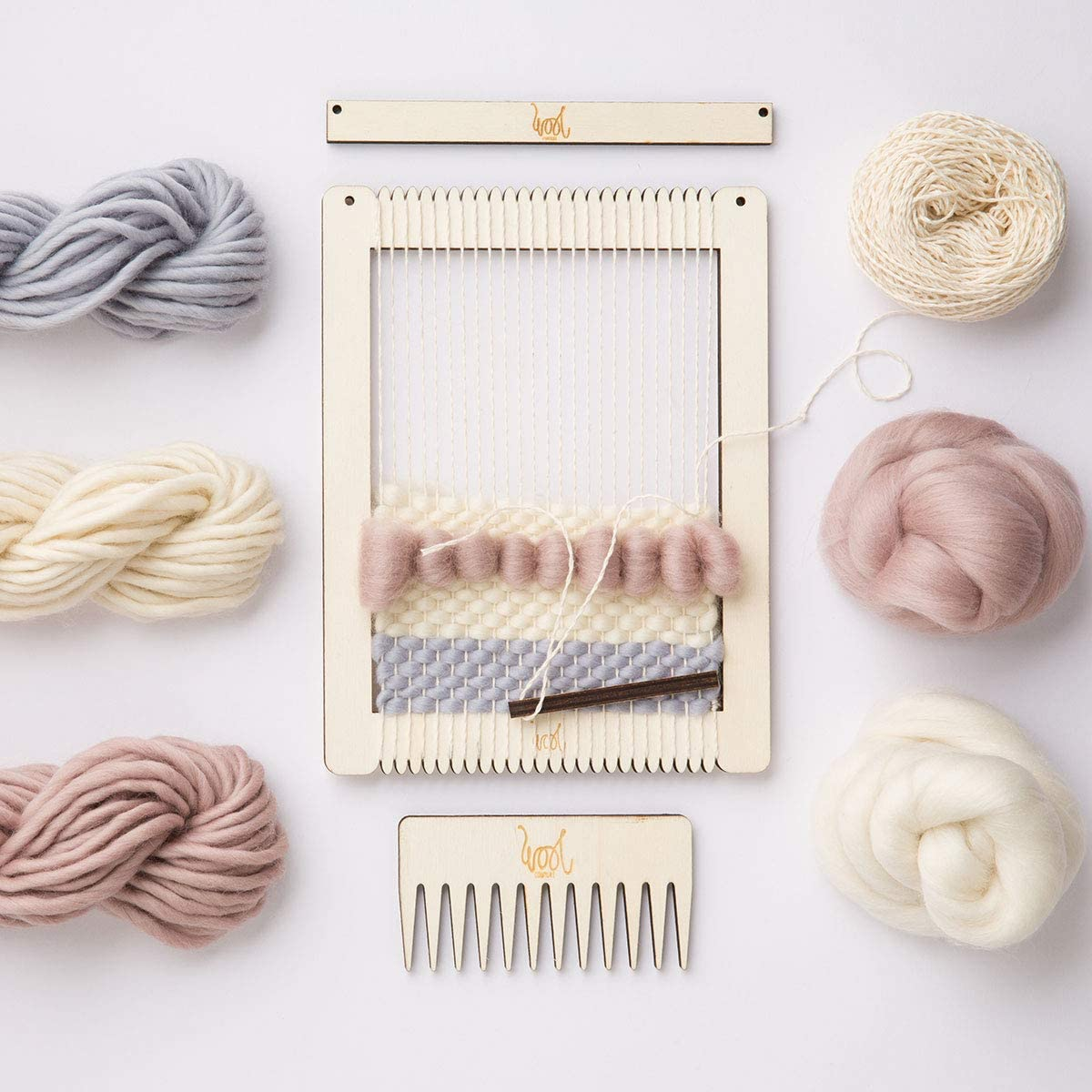 70S Chic Wool Couture Small Rectangular Weaving Loom Kit