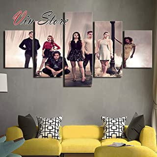 Riverdale Poster - Artworks Prints Decor Wall Modern 5 Pieces Canvas Riverdale Movie Posters Modular for Living Room Home (No Frame) (20x35 20x45 20x55cm)
