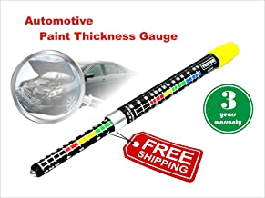 Coating Thickness Meter Gauge, Paint Tester, Car Body Damage Detector, with Magnetic Tip, and Measurement Scale, Crash-Test Check, Water Resistant, Highly Accurate (Coating Tester)