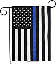 Briarwood Lane Thin Blue Line Police Embroidered Garden Flag Emergency Services 12.5