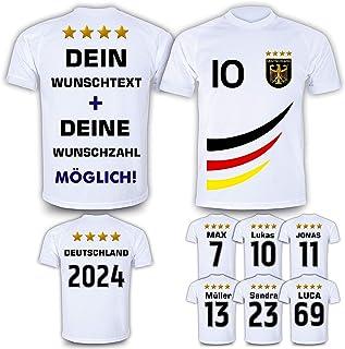 Deutschland Trikot mit GRATIS Wunschname Nummer Wappen Typ #