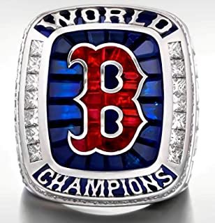 SBCRING Red Sox 2018 (Steve Pearce) Replica Championship Ring Size 9-12 (Without Box and with Box)