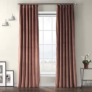 VPYC-161234-108 Heritage Plush Velvet Curtain, 50 x 108, Wild Rose