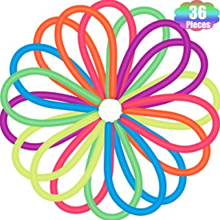 Outus Colorful Sensory Stretch Toys Fidget Noodles Stretchy Toys for Reducing Stress Anxiety (36 Pieces)