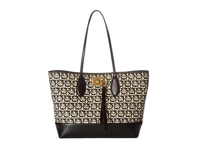 Salvatore Ferragamo The Studio Tote 21H663 (Mufasa Fodera) Handbags