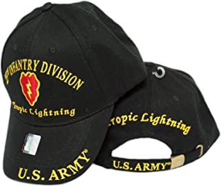 Moon US Army 25TH Infantry Division ID Tropic Lightning Embroidered Hat Cap Veteran Premium Quality Dad Hat For Men Women