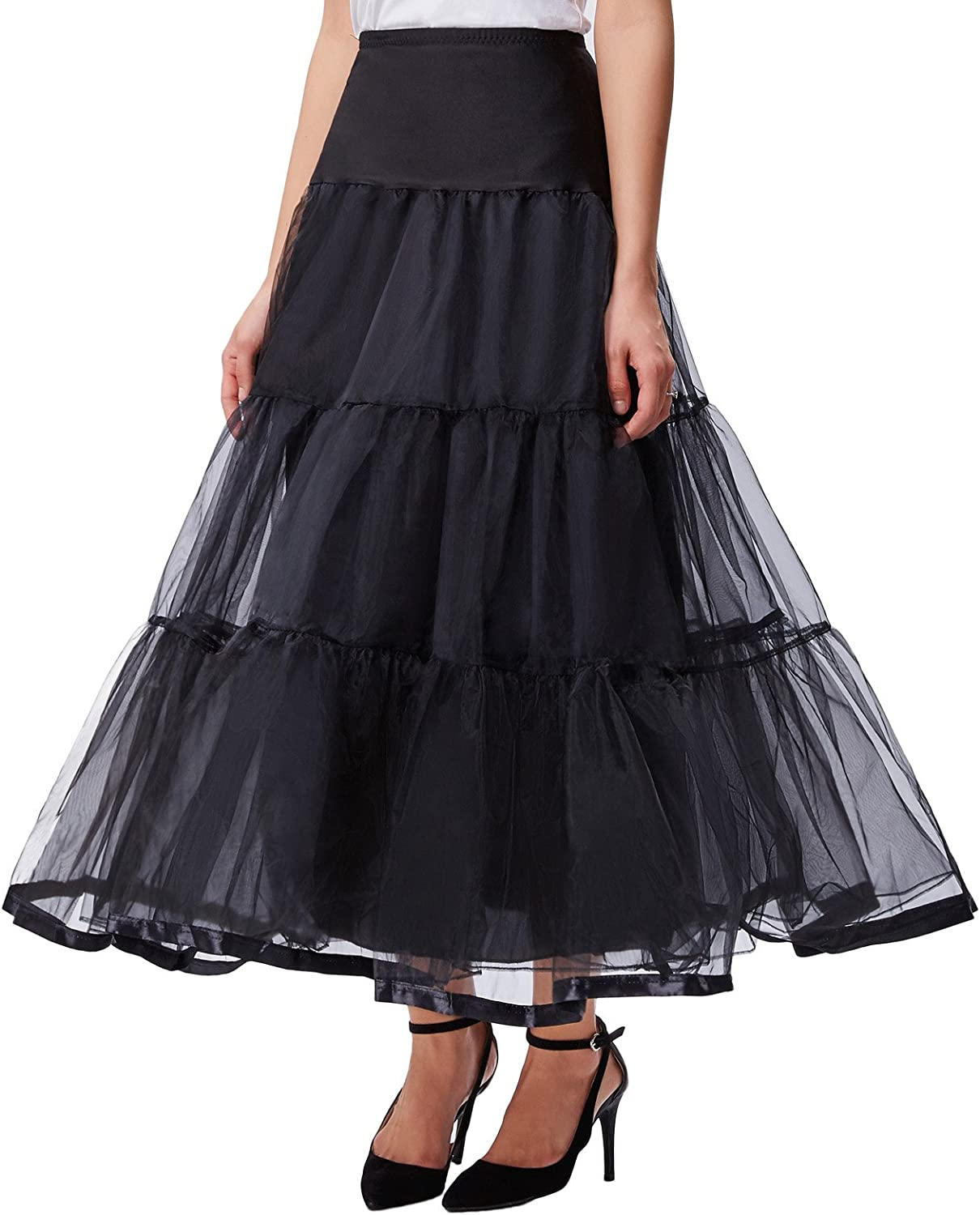 Steampunk Plus Size Clothing & Costumes GRACE KARIN Womens Ankle Length Petticoats Wedding Slips Plus Size S-3X  AT vintagedancer.com