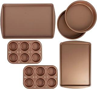 6 Pc Nonstick Bakeware Set Cake Cookie Pans